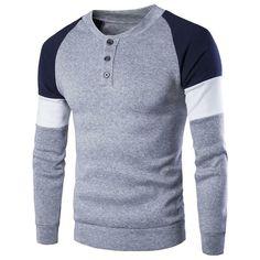 Excellent Stylish Mens T-Shirt Long Sleeve Sweater, Men Sweater, Cotton Sweater, Knit Sweaters, Cotton Shirts, Crewneck Sweater, Winter Sweaters, Sweater Coats, Cardigans