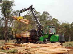 John Deere 1910E Forwarder at our John Deere Forestry demonstration at Manjimup, WA | Hitachi Construction Machinery Australia
