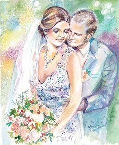 Wedding Anniversary Gift Personalized Gifts: Custom Portrait