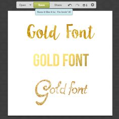 How to make gold font - free and easy