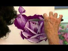 Pintura Rosas en aceite con un cuchillo de paleta en 3 sencillos pasos - YouTube