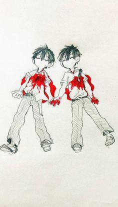 Anime Chibi, Anime Kawaii, Haikyuu Anime, Yugi, Cute Twins, Sad Art, Anime Poses, Slayer Anime, Bungou Stray Dogs