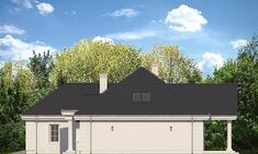 Elewacja prawa projektu Willa Parkowa 5 Plans, Garage Doors, Outdoor Decor, Floor, Home Decor, Dreams, Facades, Homes, Pavement