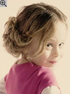 Easy updo for little girls. A stylish soft hairstyle that requires only minimal pinning.