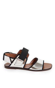 Silver sandal by MARNI for Preorder on Moda Operandi