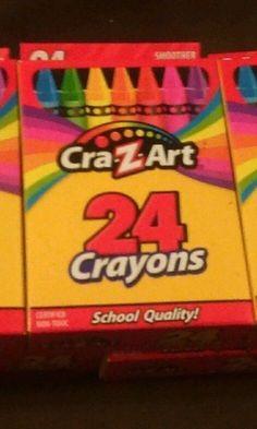 CraZart Non-toxic Crayons School Supplies 24 in  box  NEW #CraZartCrayons