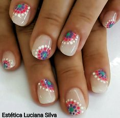60 Polka Dot Nail Designs for the season that are classic yet chic - Hike n Dip Since Polka dot Pattern are extremely cute & trendy, here are some Polka dot Nail designs for the season. Get the best Polka dot nail art,tips & ideas here. Dot Nail Art, Polka Dot Nails, Polka Dot Pedicure, Animal Nail Art, Polka Dots, Diy Nails, Cute Nails, Pretty Nails, Diy Daisy Nails