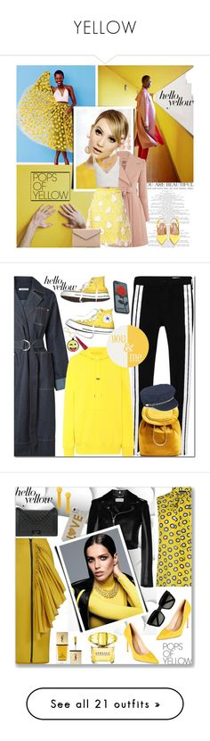 """""""YELLOW"""" by ozlem-ozcanb ❤ liked on Polyvore featuring Chloé, Zeynep Arçay, La Diva, Tabitha Simmons, Kenneth Jay Lane, PopsOfYellow, NYFWYellow, Converse, Elizabeth and James and Helmut Lang"""