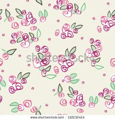 stock photo : Seamless Ditsy Roses Pattern