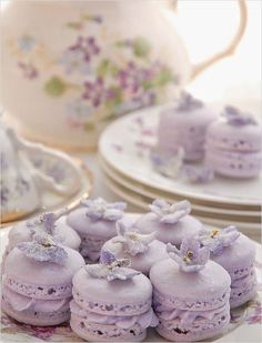 Purple macarons. So perfect for bridal showers. @weddingchicks