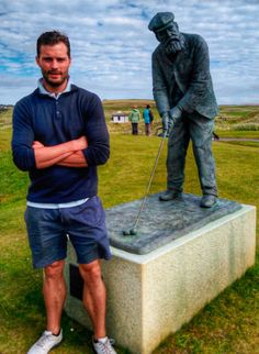 Jamie Dornan was playing golf with his friends and relatives in Ireland, September 2016.