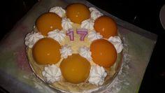 Verjaardagstaart perzik
