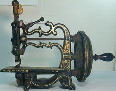 Antique 1860's Weir Raymond Chain Stitch The Globe Miniature Sewing Machine