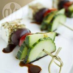 Griechischer Salat als Fingerfood @ de.allrecipes.com