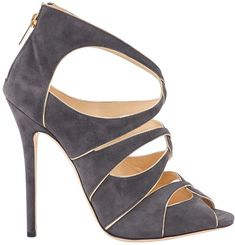 Buy your leather sandal Jimmy Choo on Vestiaire Collective, the luxury consignment store online. Second-hand Leather sandal Jimmy Choo Grey in Leather available. Women's Shoes Sandals, Leather Sandals, Shoe Boots, Manolo Blahnik Heels, Buy Shoes Online, Shoe Carnival, Jimmy Choo Shoes, Fashion Heels, Grey Leather