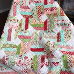 My first Hello Darling quilt! Quilt 3 of 4: Jellybean!! I just love this sweet quilt!