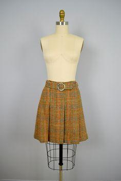 1960s skirt / Vintage 60s Plaid Skirt / Autumnal by ManicVintage