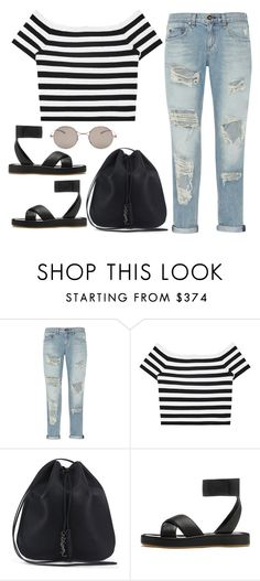 """Sin título #2165"" by annie-leah on Polyvore featuring moda, rag & bone, Alice + Olivia, Yves Saint Laurent y Maison Margiela"