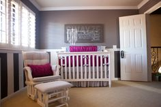 Omg I cannot not get over the grey for a nursery! And you can accent it with bold colors depending if you are having a boy or girl!