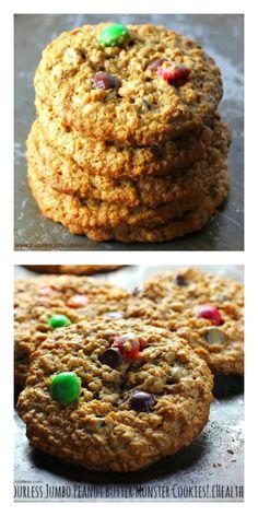 flourless jumbo peanut butter monster cookies – The Baking ChocolaTess