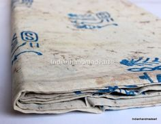 1 Yard Indian Hand Block Print fabric 100% Cotton resit dabu Print fabric 08 #Handmade