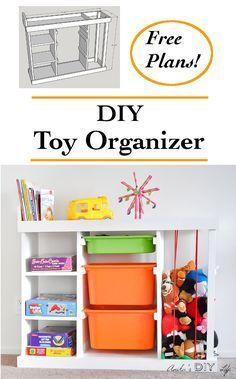DIY Toy organizer | DIY toy storage idea | Perfect for small spaces and Kids!