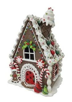 St. Nicholas Square Light-Up Gingerbread House