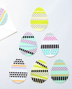 DIY easter cards with tape by Pinjacolada blog