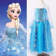Halloween Frozen Princess kids Girls Queen Elsa Cosplay Fancy Dress Costumes Children Cartoon Costumes-in Baby & Kids' Costumes from Apparel & Accessories on Aliexpress.com | Alibaba Group