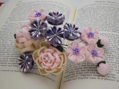 spring flowers CAMELLIAS CHERRY BLOSSOM plum by JagataraArt, $50.00