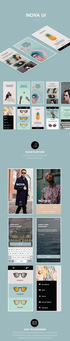 Nova App UI on Behance: Like and Repin. Thx Noelito Flow…