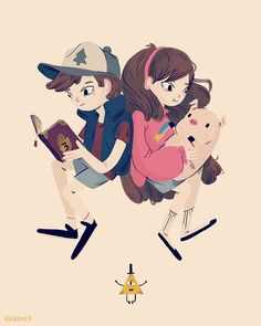 """Here's an exclusive look at new images from the Gravity Falls Art Show. """"Twin Pines"""" by Nan Lawson."""