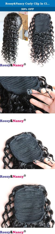 Rossy&Nancy Curly Clip In Claw Ponytail Hair Extension Human Hair Hairpiece Natural Black 12inch Color for Women. Thank you for shopping from Rossy&Nancy¡¯s Store, we aim provide you with best quality product and service, should you have any problem just come to us freely, you will always be satisfied! Product Description: 1. Hair material type: 100% virgin Brazilian remy hair ponytial, tangeless and shedding free. 2.Hair Color:Natural black color£¬please contact us if you need....