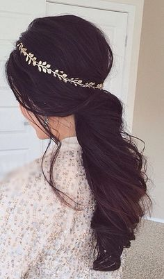 Curly ponytail with headband #gorgeoushair
