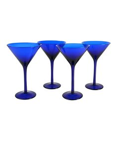 Love this Artland Midnight Blue Martini Glass - Set of Four by Artland on #zulily! #zulilyfinds