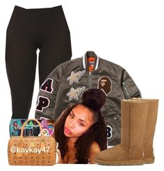 """Untitled #1171"" by bubblesthegr8t ❤ liked on Polyvore featuring A BATHING APE and UGG"