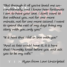 Ryan's proposal... Love Unscripted