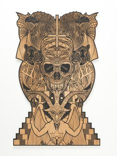 "Seldon Hunt ""Evilution Naturalus"" 2011. Occult, Dark Art, Magick, Mystic, Lion Sculpture, Fantasy, Statue, Illustration, Tattoos"