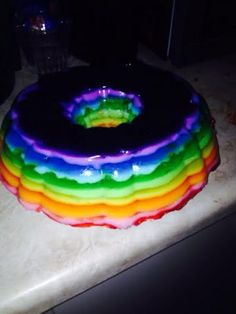 Rainbow Jello Shot Cake Recipe - Allthecooks.com
