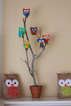 Ever Never Again: Owl Puppet & Paper bag Owl Tutorial