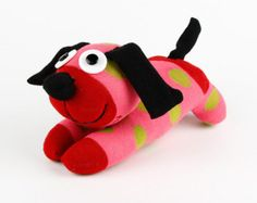 Free Shipping Handmade Sock Dog Stuffed Animal by supersockmonkeys