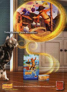 FRISKIES Cat Food Magazine Advertisement (2011)