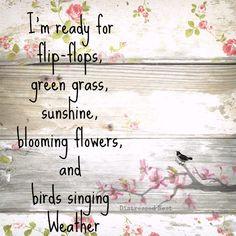 I'm ready for flip-flops #Spring