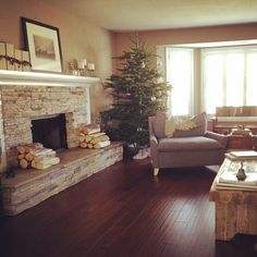 Family Room Musts- Fire place with a mantle, hand scrapped wood floors, Nice Windows, open to the kitchen with a bar along the back would be good.