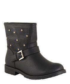 Another great find on #zulily! Black Rhinestone Westy Boot #zulilyfinds