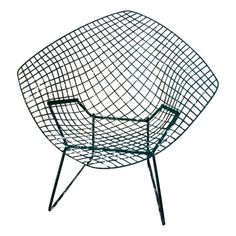 Vintage Green Bertoia for Knoll Diamond Chair, 1952