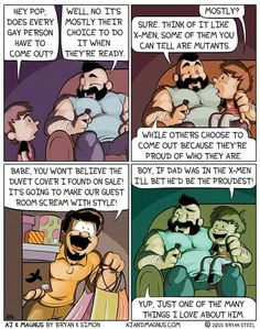 Exploring Gender - kennyn-n: wolveeeeees: I cried How cute is. Gay Comics, Cute Comics, Funny Comics, Lgbt Memes, Funny Memes, Hilarious, Online Comics, Lgbt Love, Cute Stories