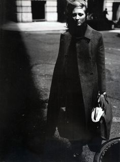 """Vogue Italia October 1998 """"Walking"""" by Craig McDean Shalom Harlow, Craig Mcdean, My Muse, Walking By, Vogue, Photography, Fictional Characters, October, Coats"""