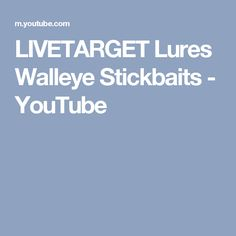 LIVETARGET Lures Walleye Stickbaits - YouTube