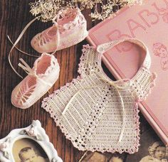 Bibs and Booties Crochet Patterns 6 Sets of by PaperButtercup